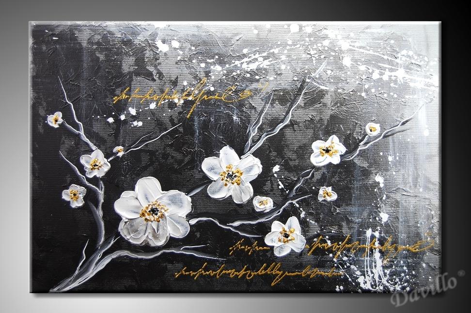 Ručně malované obrazy květin v různých velikostech. 3e6f3a1d48