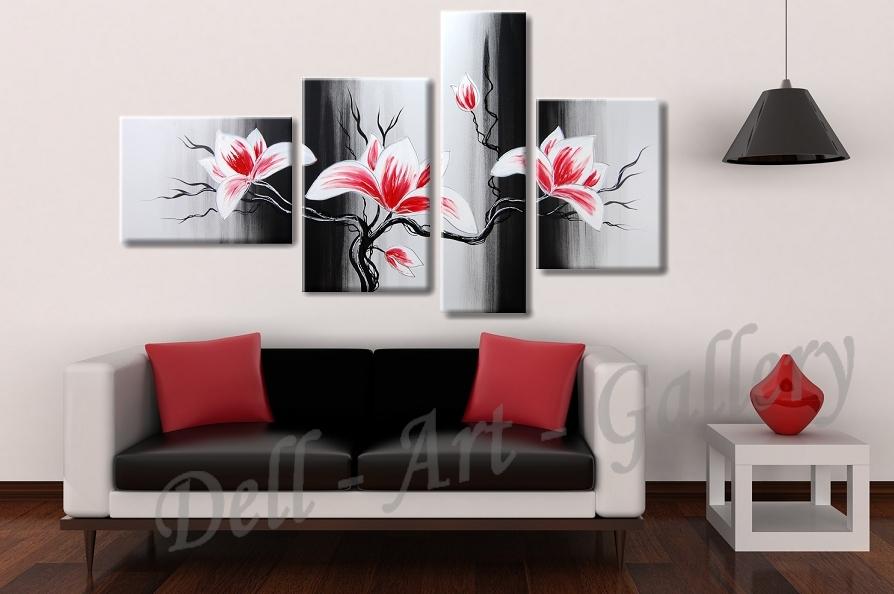 Moderní malované obrazy květiny